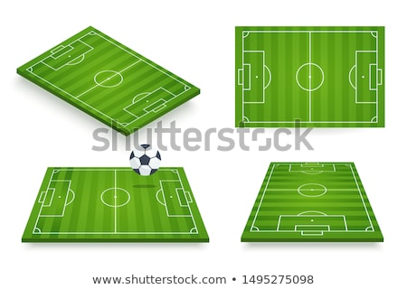 isométrica · campo · de · futebol · branco · verde · futebol · recreio - foto stock © studioworkstock