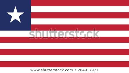 Libéria zászló fehér világ háttér csillag Stock fotó © butenkow