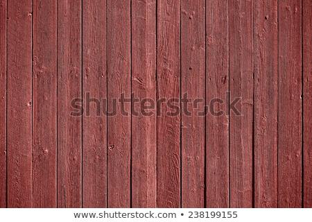Eski rustik ahşap boyalı kırmızı Stok fotoğraf © Virgin