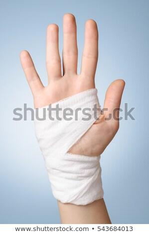 sebesült · fájdalmas · kéz · fehér · bandázs · orvosi - stock fotó © Virgin