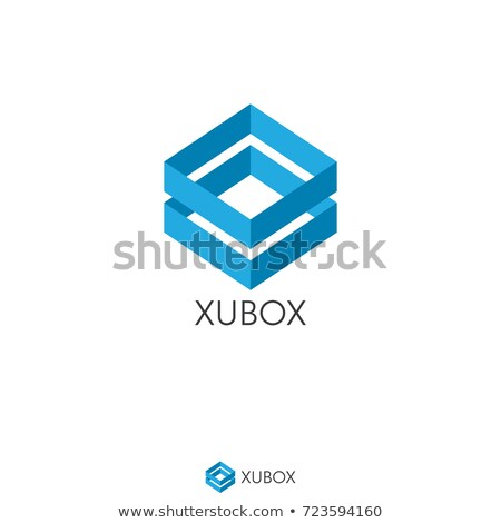 abstract box cube logo icon template. apps and technology thing  Stock photo © taufik_al_amin