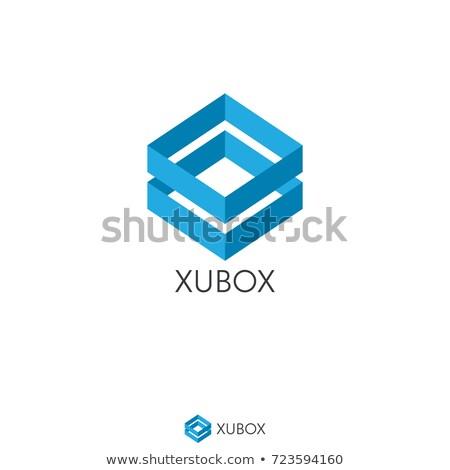 Abstract finestra cubo logo icona modello Foto d'archivio © taufik_al_amin