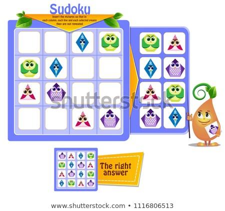 Formas corujas jogo crianças fotos crianças Foto stock © Olena