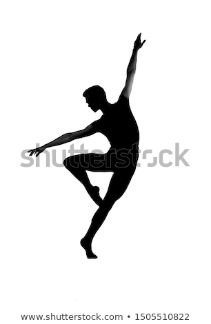 male ballet dancer silhouette stock photo © svetography