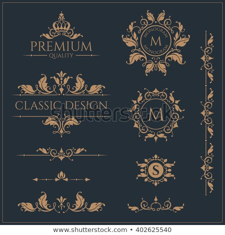 Decorative floral vector monogram Stock photo © ayaxmr