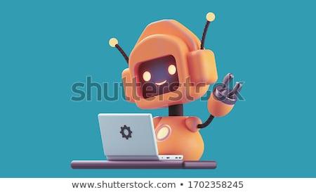 cromo · robô · 3d · render · feminino · tecnologia · ciência - foto stock © julientromeur