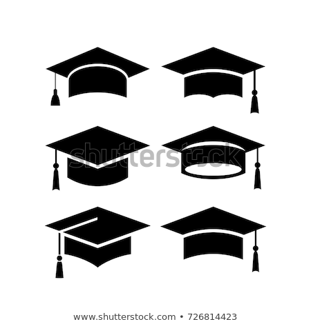 Square Academic Hat with Tassel Vector Icon Stock photo © robuart
