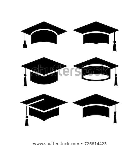 mezuniyet · kapak · tahta · yalıtılmış · örnek · beyaz - stok fotoğraf © robuart