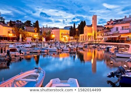 порт рассвета мнение острове Хорватия Сток-фото © xbrchx