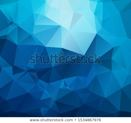 Blue abstract textured rectangular background, modern polygonal geometric texture, vector pattern Stock photo © kurkalukas