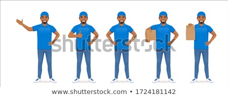 Delivery service - cartoon people character isolated illustration Stock photo © Decorwithme