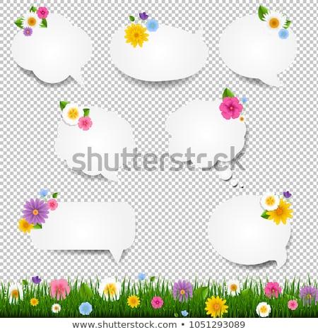 herbe · gradient · papier · printemps - photo stock © cammep
