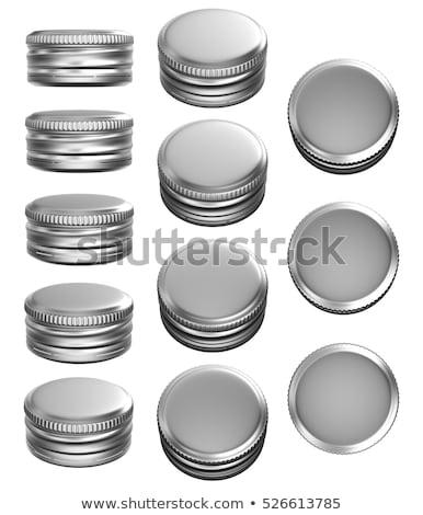 silver bottle caps 3d stock photo © djmilic