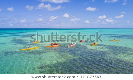 Kayak in beach sand caribbean sea turquoise Stock photo © lunamarina