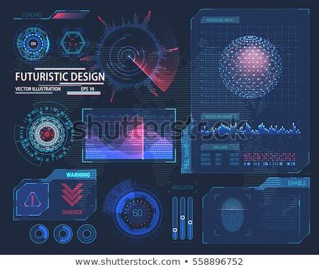 futurisztikus · interfész · terv · infografika · tudomány · elemzés - stock fotó © smeagorl