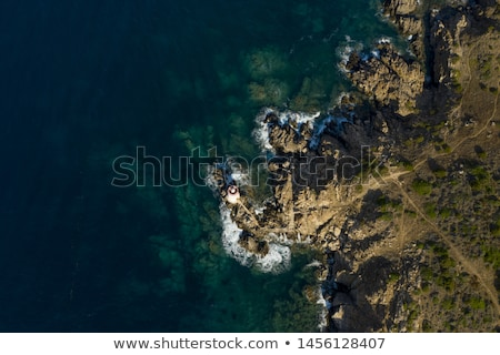 Sailing ship on a rocky coast at the Mediterranean Sea Stock photo © Ustofre9