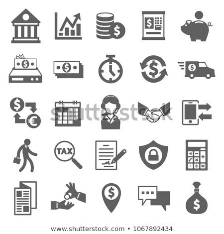 money exchange icon in trendy flat style isolated on white background euro and dollar symbols with stock photo © kyryloff