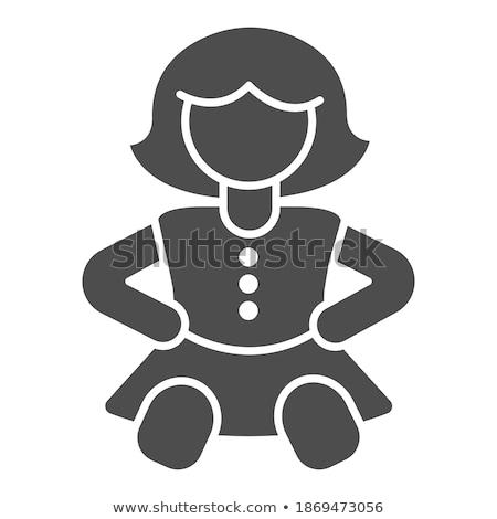 少女 ファッション 固体 webアイコン ベクトル セット ストックフォト © Anna_leni