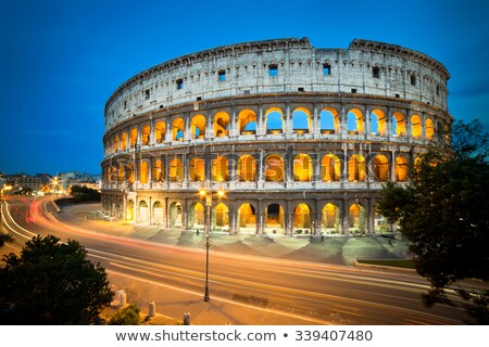 colosseum and car lights stock photo © givaga