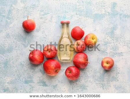 Vidrio botella manzana orgánico vinagre azul Foto stock © Illia