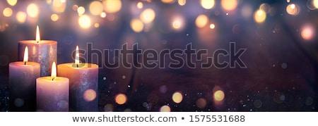 Ardente advento velas quatro branco vermelho Foto stock © neirfy