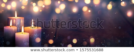 Ardor advenimiento velas cuatro blanco rojo Foto stock © neirfy