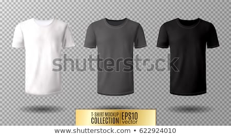 T-shirt template with long and short sleeves Stock photo © colematt