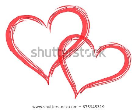Foto stock: Casal · amor · coração · vetor · símbolo · valentine