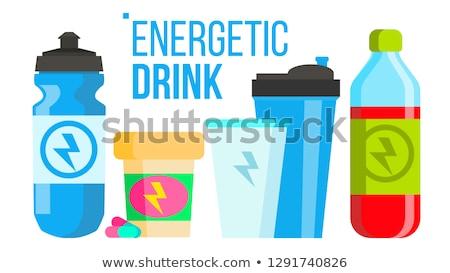 énergique boire vecteur énergie icône bouteille Photo stock © pikepicture