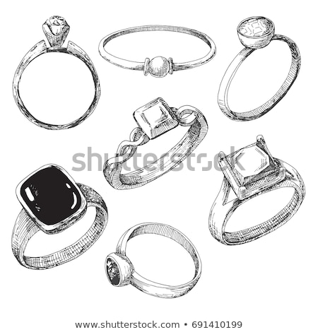 schets · huwelijksceremonie · illustratie · witte · achtergrond · cake - stockfoto © rastudio