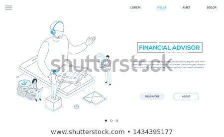 Technischer Support farbenreich Vektor Web Banner Stock foto © Decorwithme