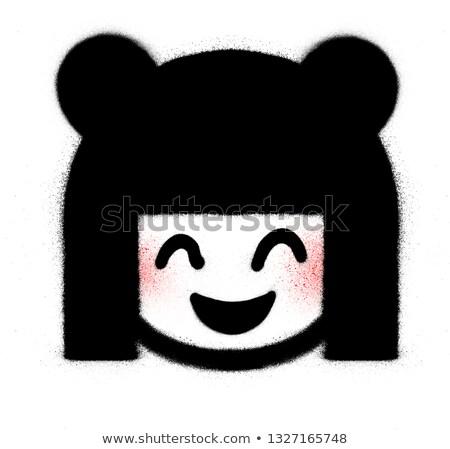 Graffiti cute icon witte vrouwelijke dame Stockfoto © Melvin07