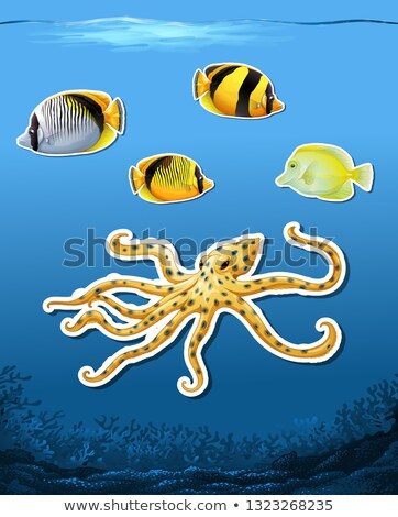 Mer créature subaquatique illustration poissons design Photo stock © bluering