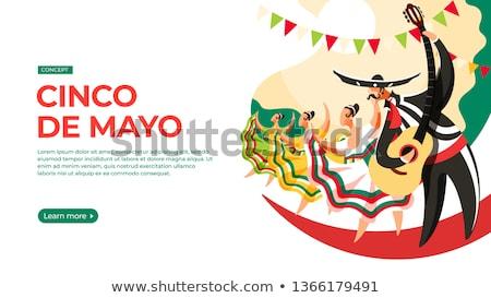 Majonéz mexikói fiesta nap szombréró buli Stock fotó © furmanphoto