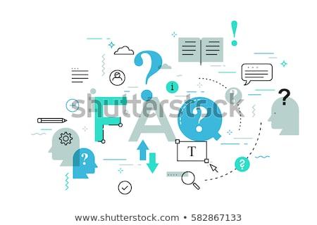 Felhasználó útmutató fejléc szalag néz információ Stock fotó © RAStudio