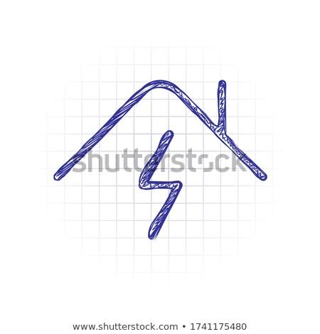 Foto d'archivio: Smart · plug · contorno · doodle · icona