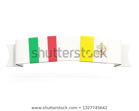 Banner with two square flags of Italy and vatican city Stock photo © MikhailMishchenko