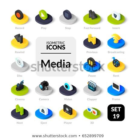 online cinema outline isometric icons stock photo © netkov1