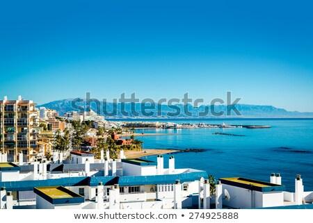 castillo · espanol · costa · playa · edificio · naturaleza - foto stock © amok