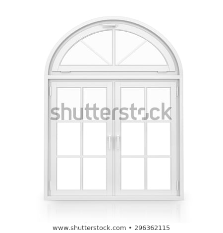 round window with white frame stock photo © colematt
