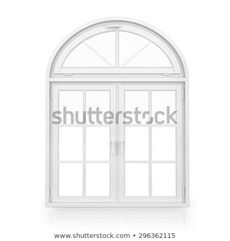 Janela branco quadro ilustração madeira porta Foto stock © colematt