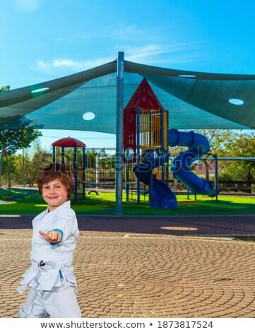 Niebieski odzież zestaw chłopca kontroli wybór Zdjęcia stock © toyotoyo