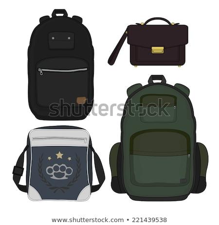 ayarlamak · çanta · moda · çanta · deri · çanta - stok fotoğraf © netkov1