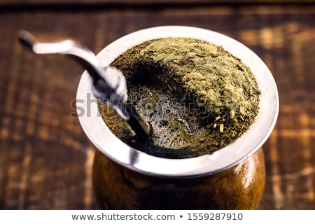 Yerba mate tea in a calabash gourd Stock photo © grafvision