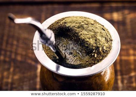 yerba mate tea in a calabash gourd photo stock © grafvision
