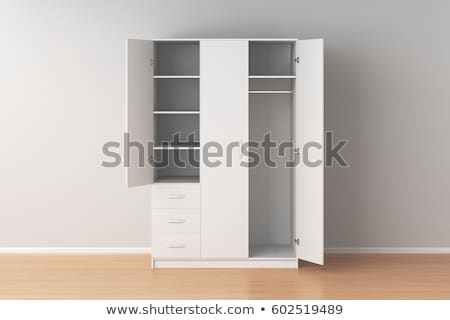 Empty wardrobe on white background Stock photo © magraphics