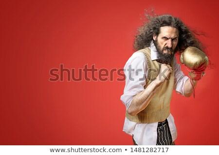 тощий Боксер борьбе смешные улыбка моде Сток-фото © majdansky