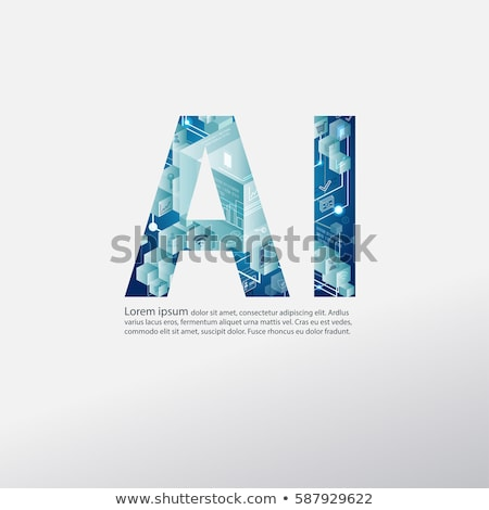 Virtual Artificial Intelligence Vector Sign Icon Stock photo © pikepicture