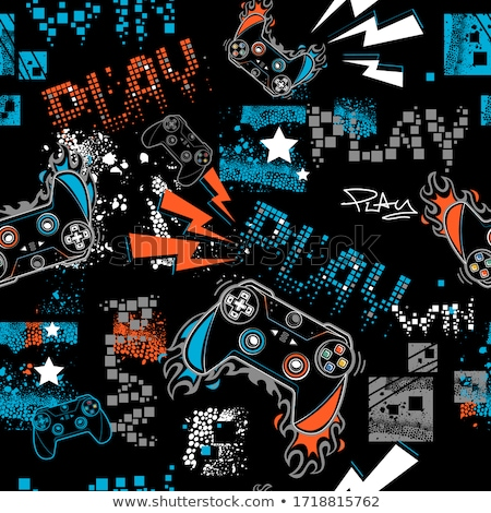 interactive kids games seamless pattern vector stock photo © pikepicture