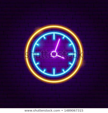 быстро · часы · Cartoon · иллюстрация · работает - Сток-фото © anna_leni
